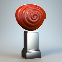 3d abstract figure m036 model