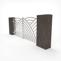 gate 3d fbx