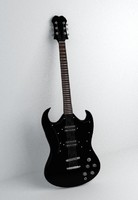 black guitar 3ds