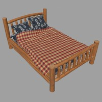 wooden bed 3ds