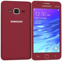 samsung z1 wine red 3d 3ds