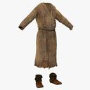 medieval clothes 3D models