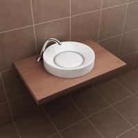 3d model modern basin