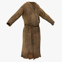 peasant men clothing 3d model