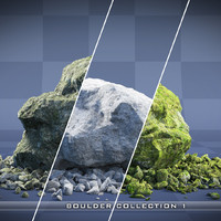 Realistic Rock Collection 03 - Boulders