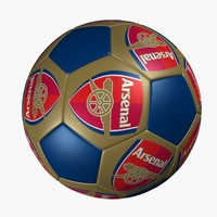 3d soccer ball arsenal model