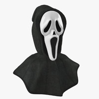 3d mask scream hood
