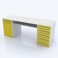 kids desk 3d model