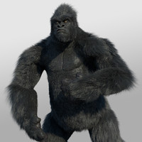 3d model gorilla rigged