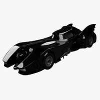 batmobile car 3d model