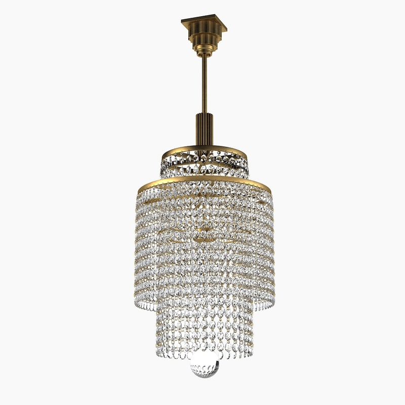 French Art Deco Crystal Chandelier big theatre ceiling lamp classic classical 609.jpg