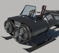 3d model transporter parts racers