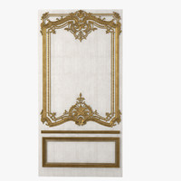 Antique Boiserie Panel With Wather Gilding
