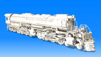big boy locomotive steam 3d model