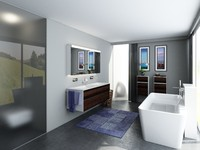 3d bathroom scenes