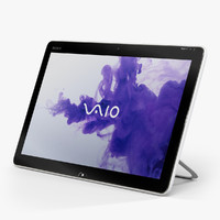 3d low-poly sony vaio tap model