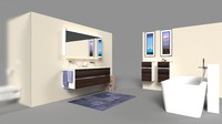 bathroom scenes 3d max