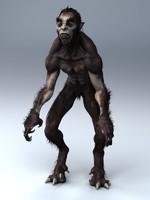 3d werewolf animation model