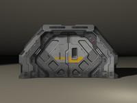 3d max sci-fi door