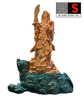 sculpture chinese warrior 3d model