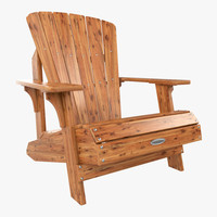 lifetime faux wood adirondack chair 3d model