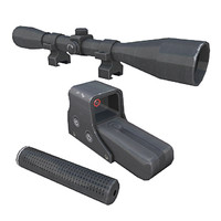 3d sopmod suppressor scope