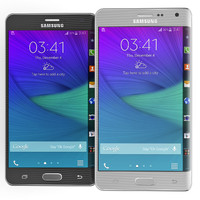 Samsung Galaxy Note Edge Black and White