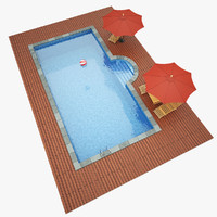 3d swimming pool