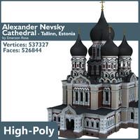 cathedral alexander nevsky 3d model