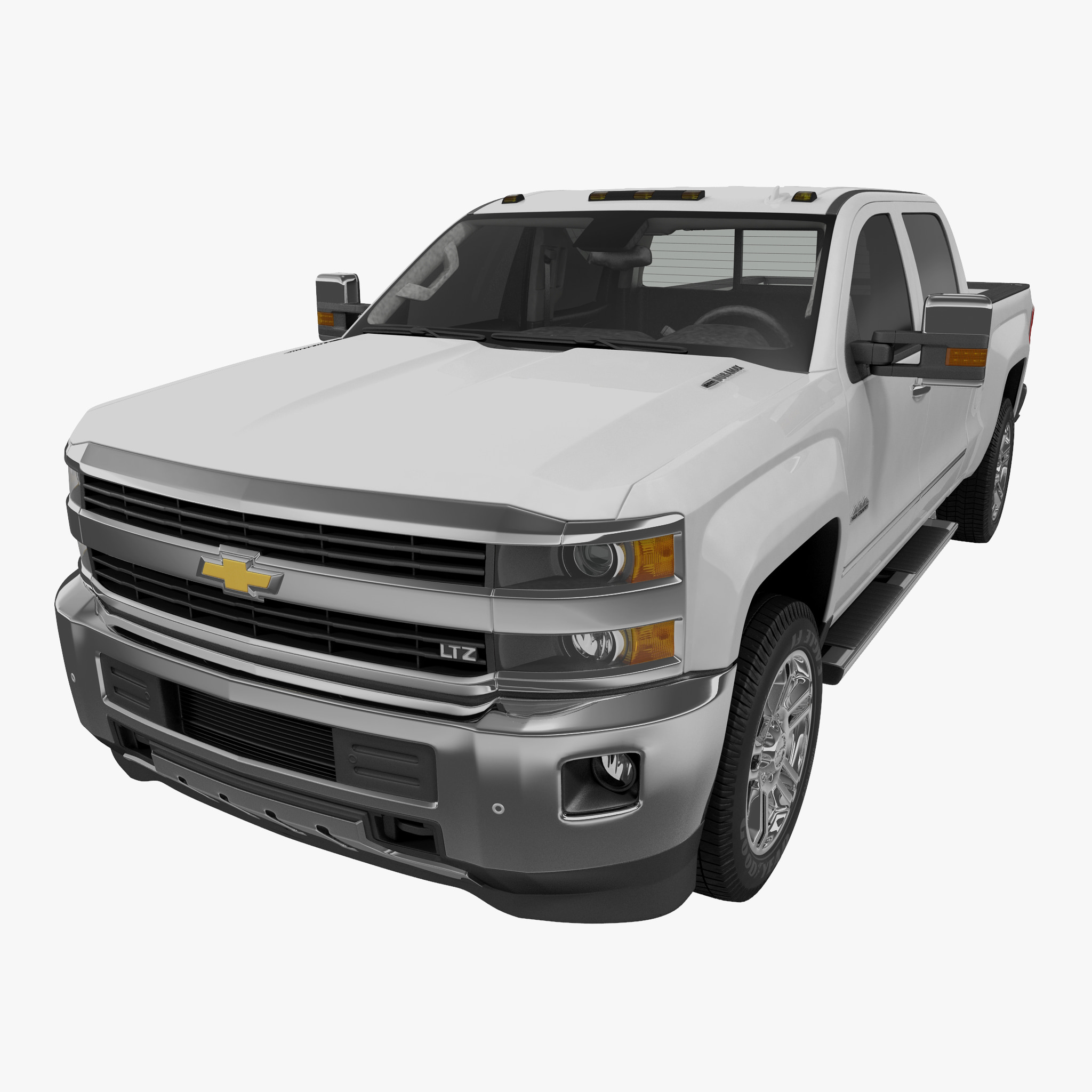 Chevrolet Silverado 3500HD 2015 High Country Pickup Without Interior_1.jpg