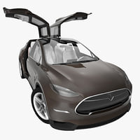 Tesla Model X 2015 Rigged