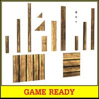 maya wooden plank assets games