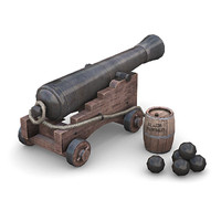 3d model deck cannon
