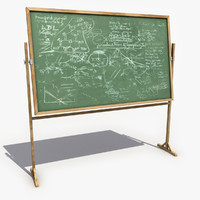 3d chalkboard modeled