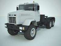3d model ukrainian kraz 6446