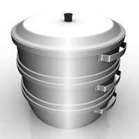 3d model aluminium steamer