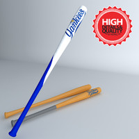 real base ball bat 3d model
