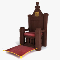 3d model xi century throne