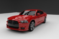 3d dodge charger srt8 2012 model