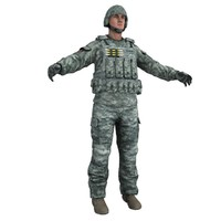 3ds max human military