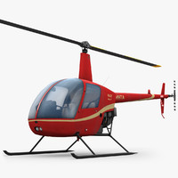 3d model low-poly robinson r22