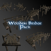3ds max pack wooden bridge