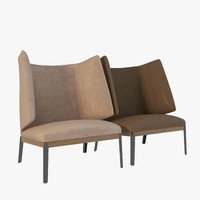 arflex hug - armchair 3d model
