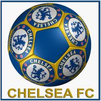 3d c4d soccer ball chelsea fc