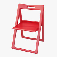 3d model realistic contemporary plastic folding chair