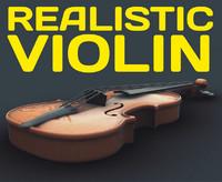 violin - 3d obj