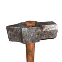 big hammer 3d obj