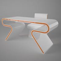 3d desk omega model