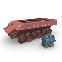 german panzer construction engine 3d max