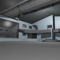 secure warehouse 3d model